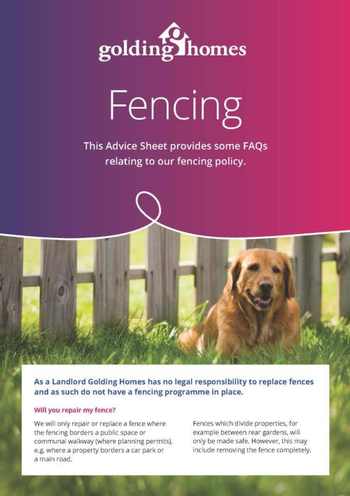 Fencing Advice Sheet 2019 Front page
