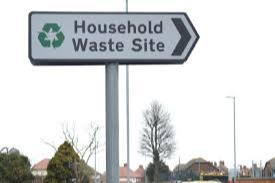 Household Waste Sign