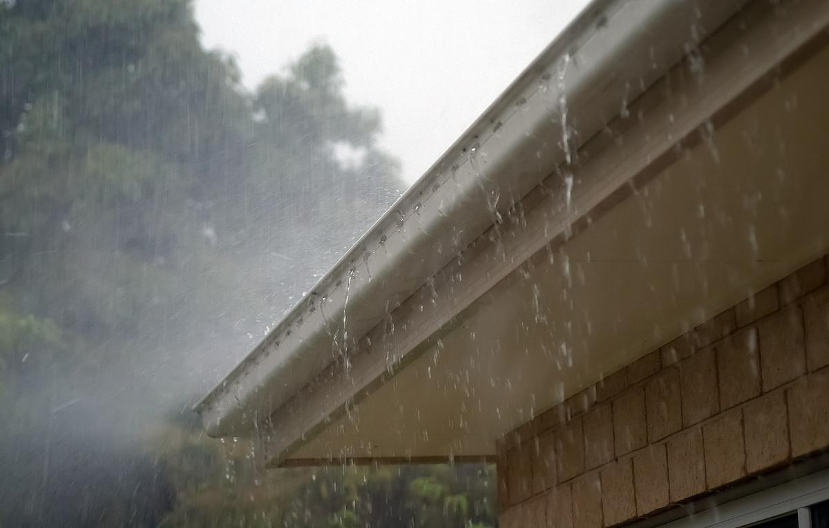 Gutters in the rain