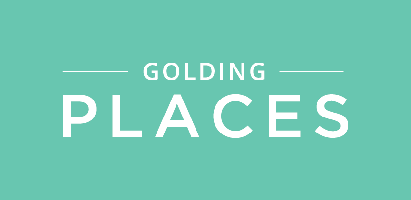 Golding Places logo reversed
